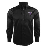 Red House Black Herringbone Non Iron Long Sleeve Shirt-WCU w/Head