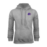 Champion Grey Fleece Hood-Catamount Head