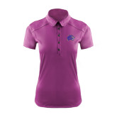 Ladies Ogio Deep Purple Pleated Back Polo-Catamount Head