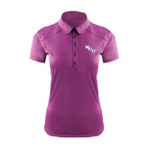Ladies Ogio Deep Purple Pleated Back Polo-WCU