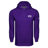 Under Armour Purple Performance Sweats Team Hoodie-WCU w/Head