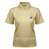 Ladies Vegas Gold Dry Mesh Polo-WCU w/Head