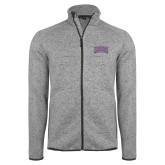 Grey Heather Fleece Jacket-Western Carolina Catamounts