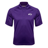 Purple Textured Saddle Shoulder Polo-WCU w/Head