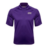 Purple Textured Saddle Shoulder Polo-Western Carolina Catamounts