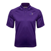 Purple Textured Saddle Shoulder Polo-Catamount Head
