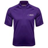 Purple Textured Saddle Shoulder Polo-Alumni