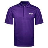 Purple Mini Stripe Polo-WCU w/Head