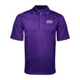 Purple Mini Stripe Polo-Western Carolina Catamounts