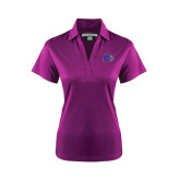 Ladies Purple Performance Fine Jacquard Polo-Catamount Head