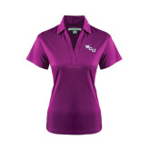 Ladies Purple Performance Fine Jacquard Polo-WCU