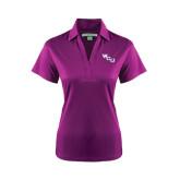 Ladies Purple Performance Fine Jacquard Polo-WCU