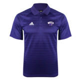 Adidas Climalite Purple Jaquard Select Polo-WCU w/Head