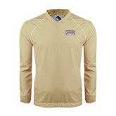 Colorblock V Neck Vegas Gold/White Raglan Windshirt-Western Carolina Catamounts