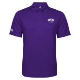 Adidas Climalite Purple Game Time Polo-WCU w/Head