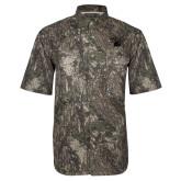 Camo Short Sleeve Performance Fishing Shirt-WCU w/Head Tone