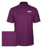 Purple Performance Fine Jacquard Polo-WCU w/Head