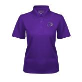 Ladies Purple Dry Mesh Polo-Catamount Head