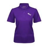 Ladies Purple Dry Mesh Polo-WCU