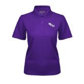 Ladies Purple Dry Mesh Polo-WCU