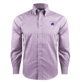 Red House Purple Plaid Non Iron Long Sleeve Shirt-WCU w/Head
