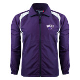Colorblock Purple/White Wind Jacket-WCU w/Head