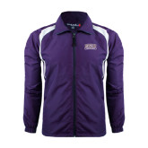 Colorblock Purple/White Wind Jacket-Western Carolina Catamounts