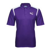 Purple Textured Gameday Polo-WCU w/Head