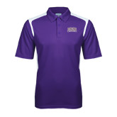 Purple Textured Gameday Polo-Western Carolina Catamounts