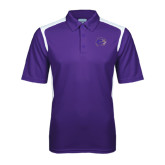 Purple Textured Gameday Polo-Catamount Head