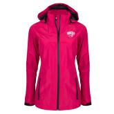 Ladies Dark Fuchsia Waterproof Jacket-WCU w/Head