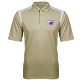 Vegas Gold Textured Gameday Polo-WCU w/Head