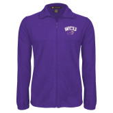 Fleece Full Zip Purple Jacket-WCU w/Head