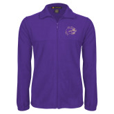 Fleece Full Zip Purple Jacket-Catamount Head