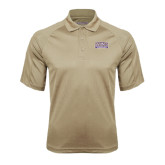 Vegas Gold Textured Saddle Shoulder Polo-Western Carolina Catamounts