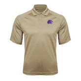 Vegas Gold Textured Saddle Shoulder Polo-Catamount Head