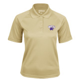 Ladies Vegas Gold Textured Saddle Shoulder Polo-WCU w/Head