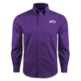 Red House Purple Long Sleeve Shirt-WCU w/Head