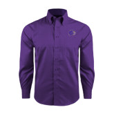 Red House Purple Long Sleeve Shirt-Catamount Head