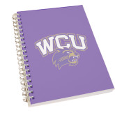 Clear 7 x 10 Spiral Journal Notebook-WCU w/Head