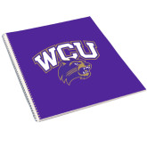 College Spiral Notebook w/Clear Coil-WCU w/Head