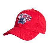 Red Heavyweight Twill Pro Style Hat-Stars and Stripes