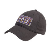 Steel Grey Twill Unstructured Low Profile Hat-Catamount Club