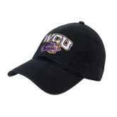 Black Twill Unstructured Low Profile Hat-WCU w/Head