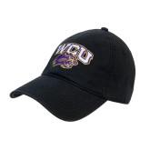 Black Twill Unstructured Low Profile Hat-WCU w/Head