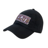 Black Twill Unstructured Low Profile Hat-Catamount Club