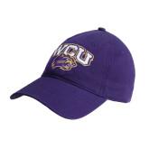 Purple Twill Unstructured Low Profile Hat-WCU w/Head