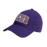 Purple Twill Unstructured Low Profile Hat-Catamount Club