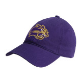 Purple Twill Unstructured Low Profile Hat-Catamount Head