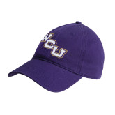 Purple Twill Unstructured Low Profile Hat-WCU
